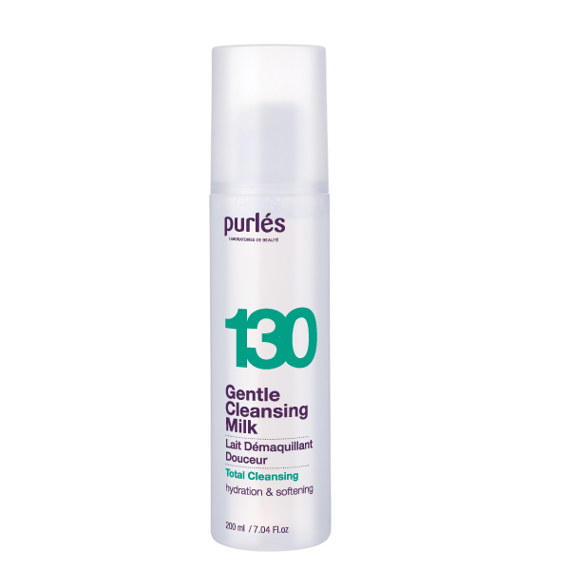 Purles 130 Gentle Cleansing Milk Łagodne Mleczko do demakijażu 200 ml