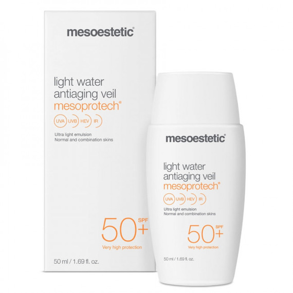 Ultralekki fluid SPF 50+ Mesoestetic Mesoprotech Light Water Antiaging Veil SPF 50+